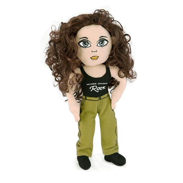 Mixed Chicks Rock Doll Black Tank, Green Jeans