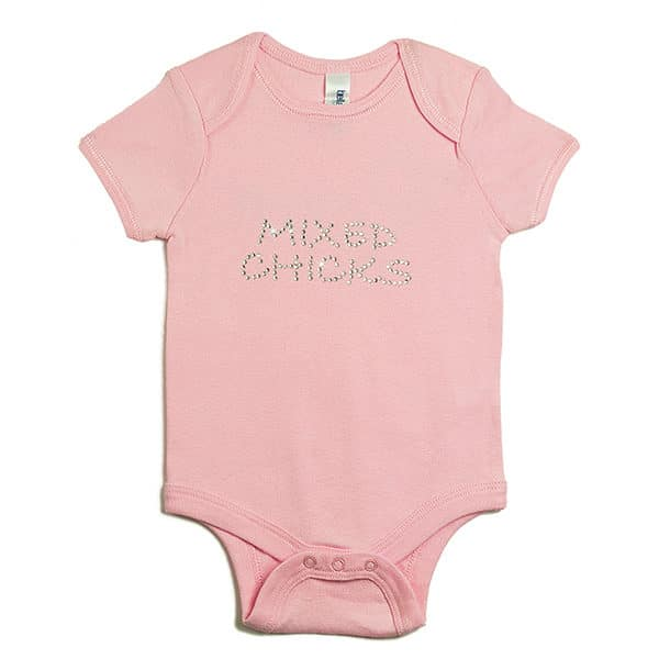 Mixed Chicks Infant's Mixed Chicks Bling Onesie