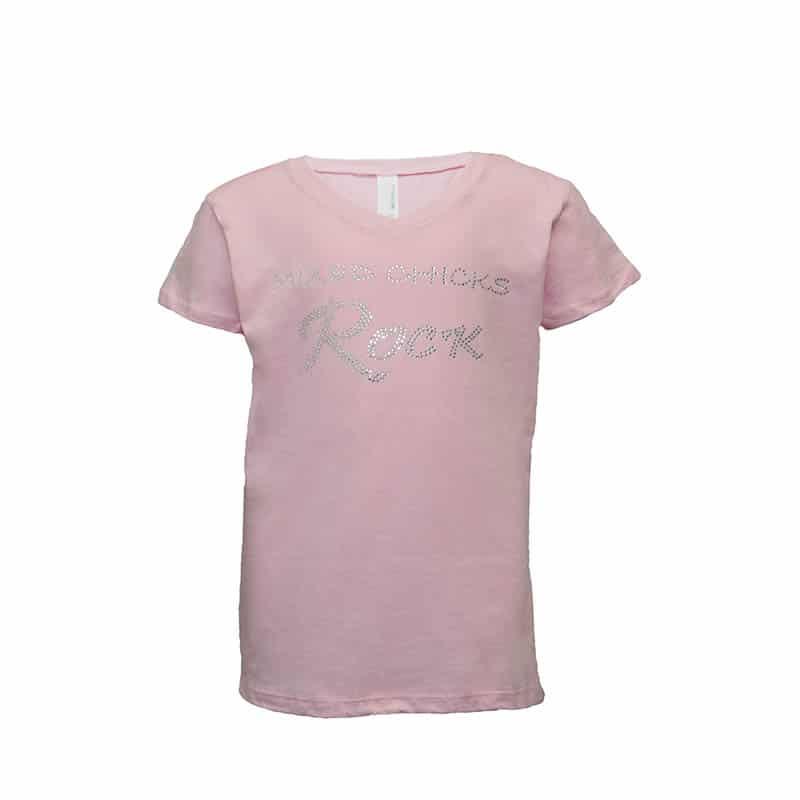 Mixed Chicks Kid's Bling V-Neck - Light Pink